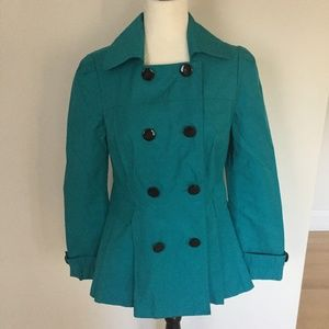 Miss Sixty Teal jacket sz medium flare fun
